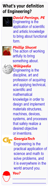 What is your definition of engineering?
