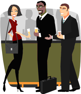 Networking at social events