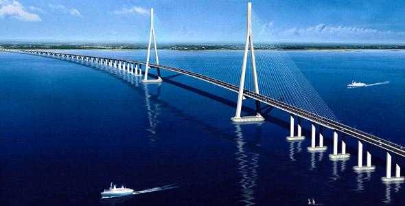 Sutong Bridge in Nantong City, Jiangsu Province, China